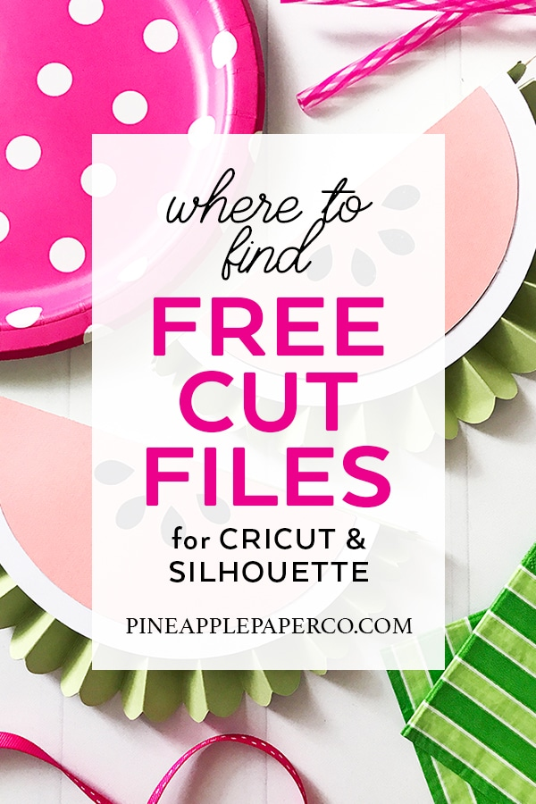 Where to Get Free SVG Files from Pineapple Paper Co.