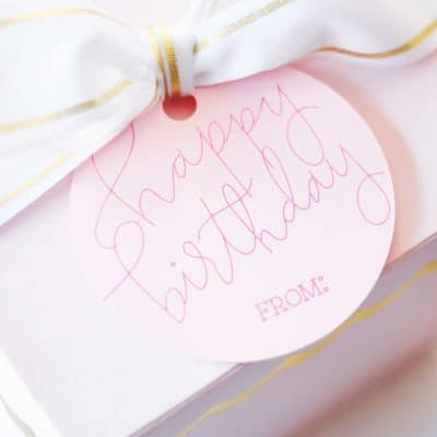 Free Happy Birthday SVG + Foil Quill Gift Tag