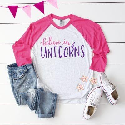 Free Believe in Unicorns SVG for Cricut & Silhouette