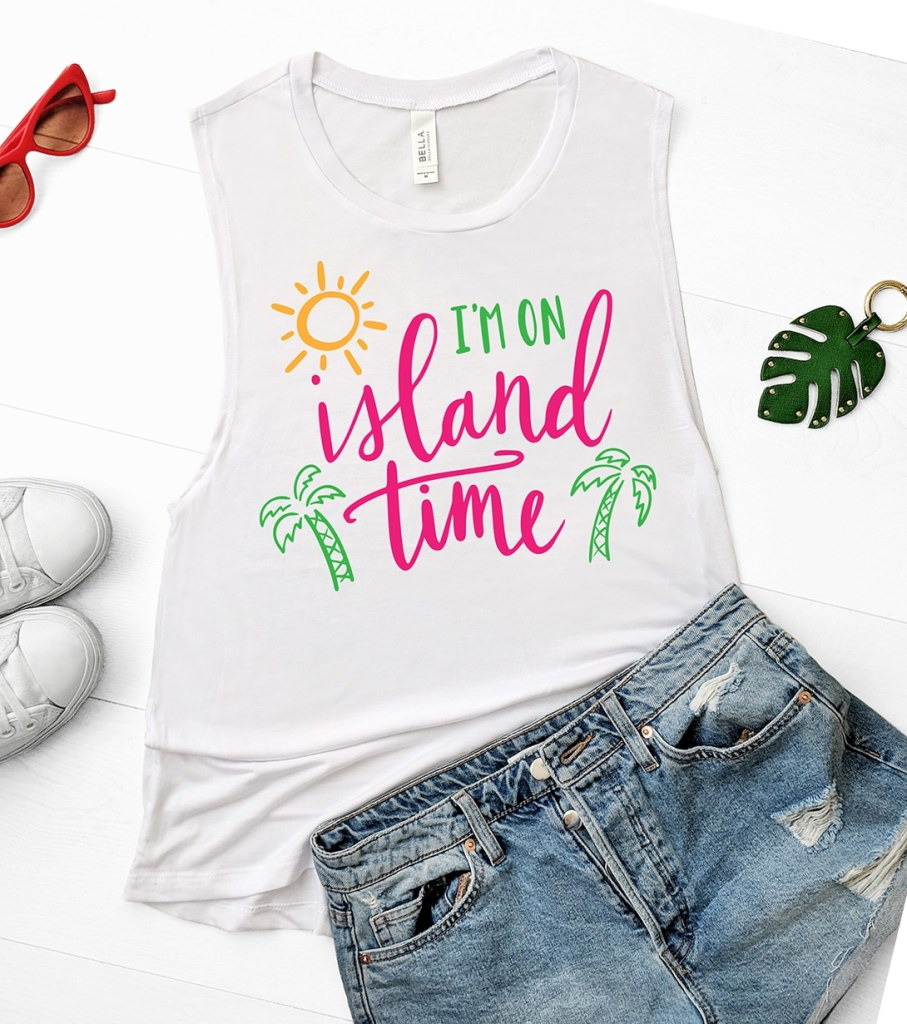 Free Tropical Island Time SVG for Cricut and Silhouette by Pineapple Paper Co.