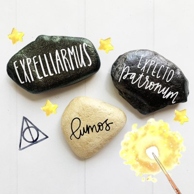 Harry Potter Easy Painted Rocks Tutorial