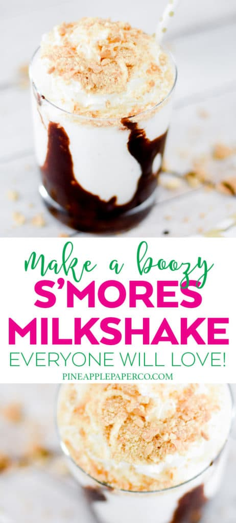 Boozy S'mores Milkshake Recipe with Jackson Morgan Southern Cream by Pineapple Paper Co.