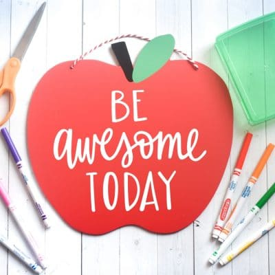 Be Awesome Today Free Teacher SVG