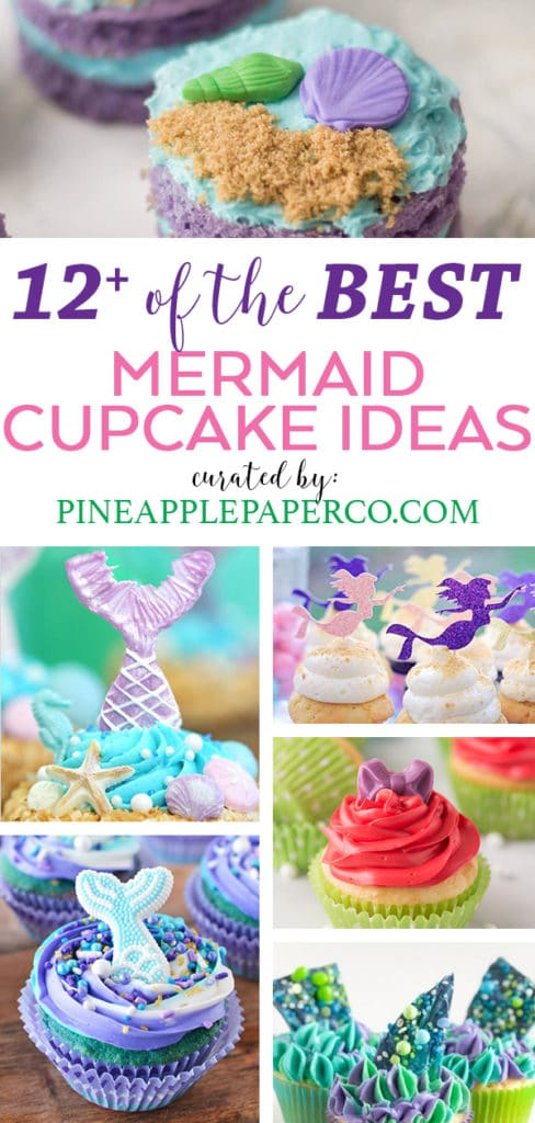 Mermaid Cupcake Ideas curated by Pineapple Paper Co.