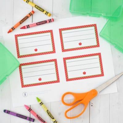 Free Printable School Labels