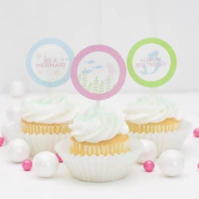 Printable Mermaid Cupcake Toppers
