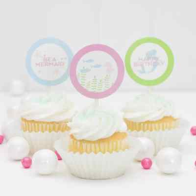Printable Mermaid Cupcake Toppers