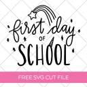 Unicorn First Day of School SVG