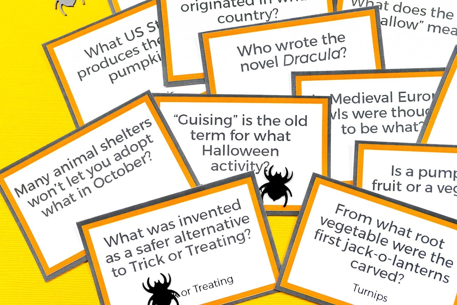 image about Printable Halloween Trivia identified as Least difficult Totally free Printable Halloween Celebration Game titles - Pineapple Paper Co.