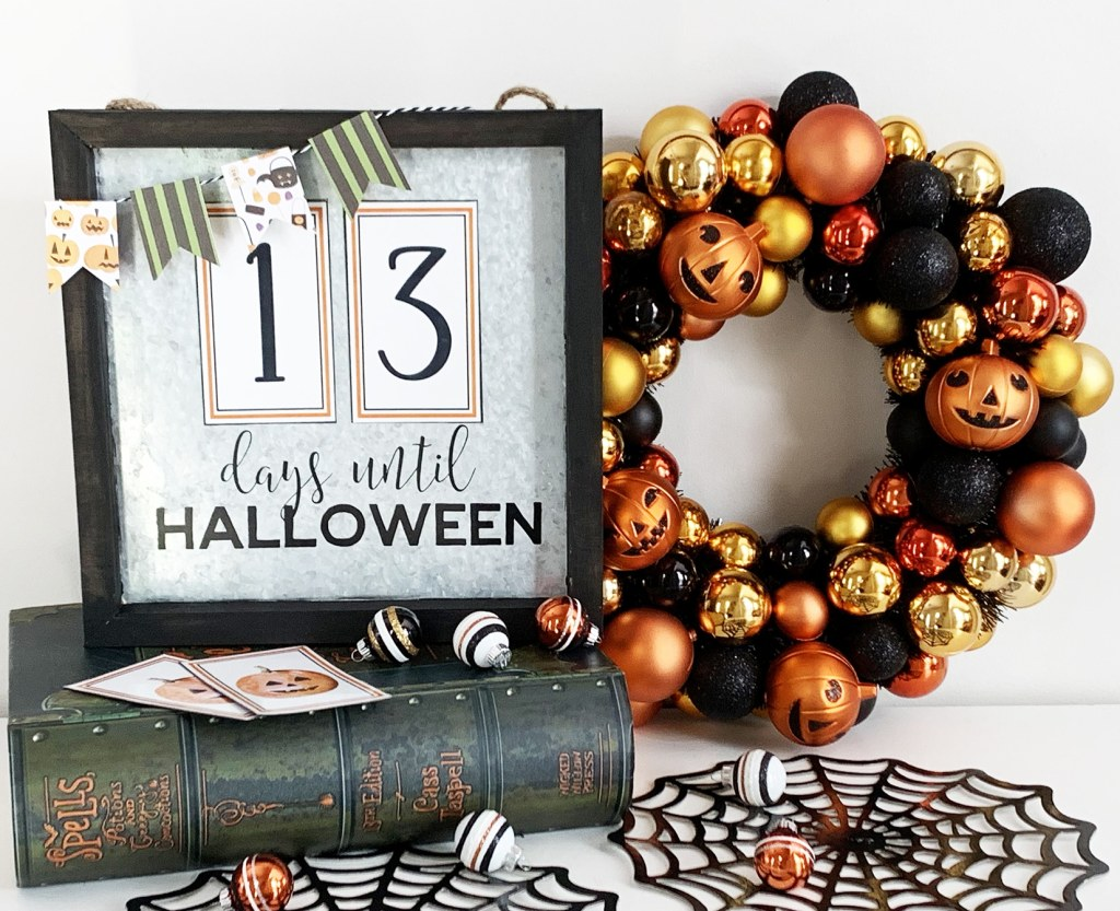 Free Printable Numbers to Make a DIY Halloween Countdown Calendar with Cricut & Xyron by Pineapple Paper Co.