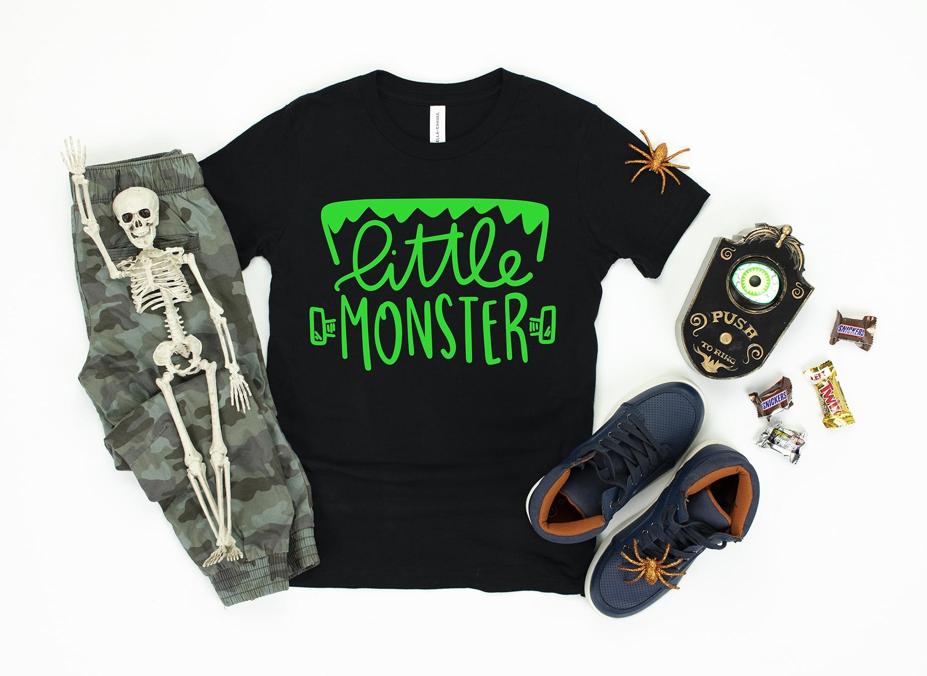Free Little Monster Halloween SVG File - Pineapple Paper Co