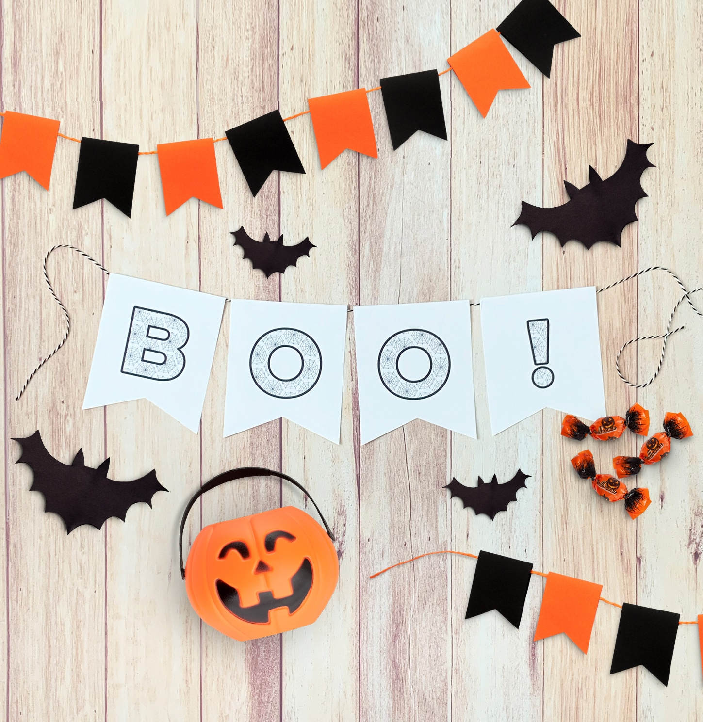 This is a photo of Halloween Banner Printable inside gift tag printable