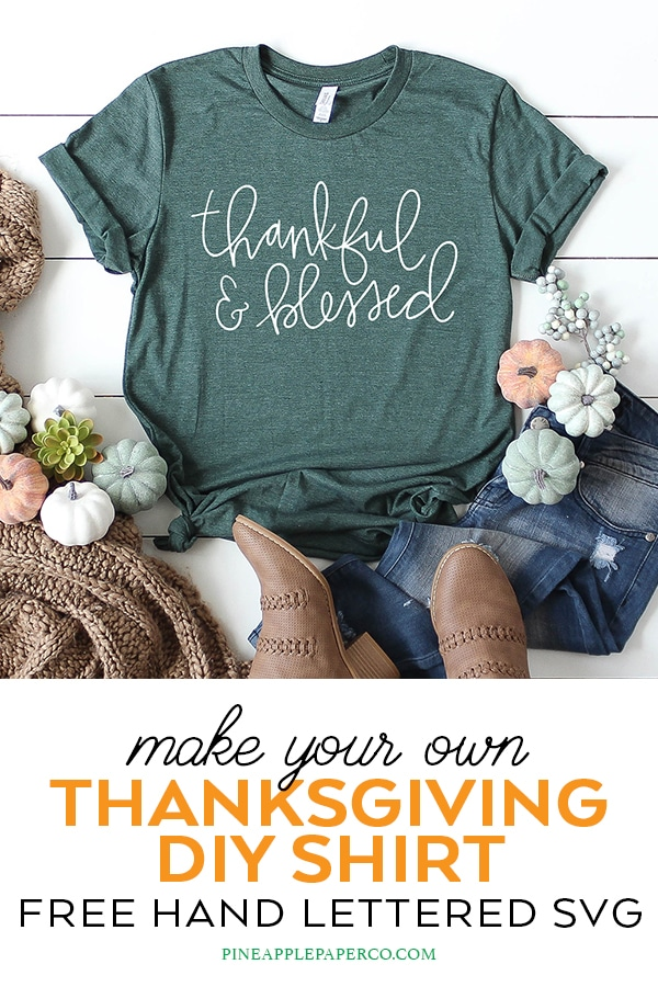 Thankful and Blessed SVG Free by Pineapple Paper Co.