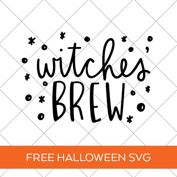 Free Witches' Brew Halloween SVG Cut File for Cricut & Silhouette by Pineapple Paper Co.