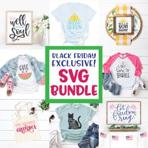 Black Friday SVG Cut File Bundle by Pineapple Paper Co. and Hey Let's Make Stuff