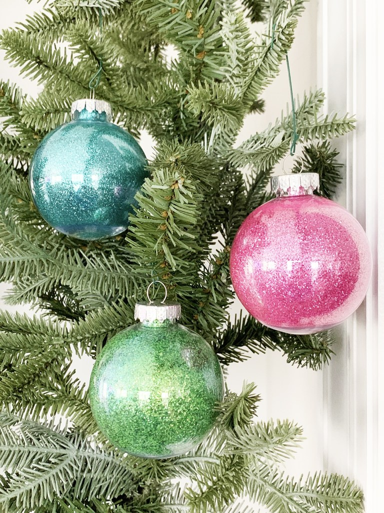 Quick and Easy Glitter Ornaments including the BEST GLUE EVER by Pineapple Paper Co.