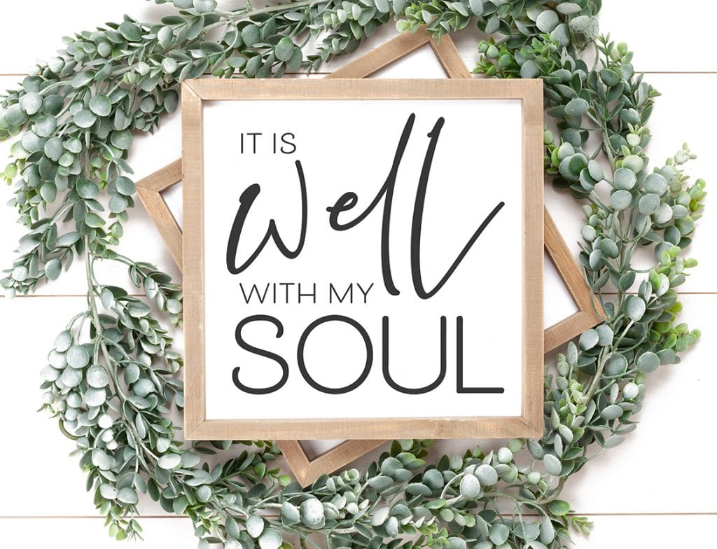 It Is Well with My Soul Sign DIY by Pineapple Paper Co.