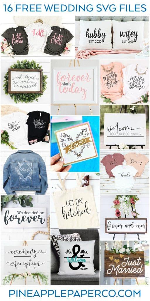 Free Wedding SVG Files - Totally Free SVG Blog Hop