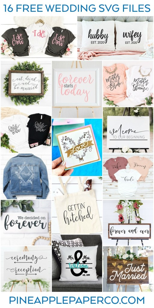 Free Wedding SVG Files - Totally Free SVG Blog Hop