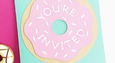 DIY Donut Birthday Invitations with your Cricut by Pineapple Paper Co.