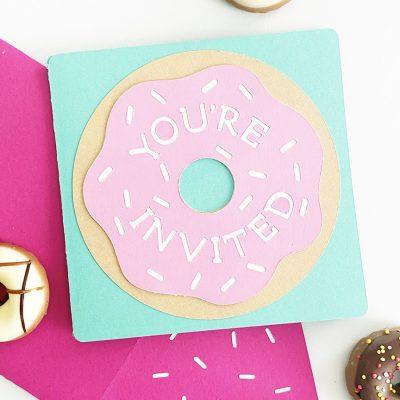 DIY Donut Invitations