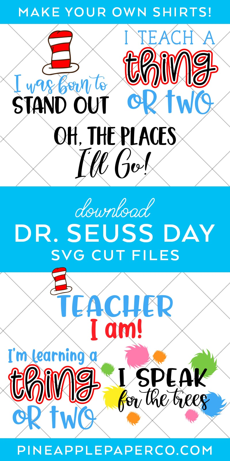 Dr Seuss Svg Files : seuss, files, Seuss, Files, Shirts, Crafts, Pineapple, Paper