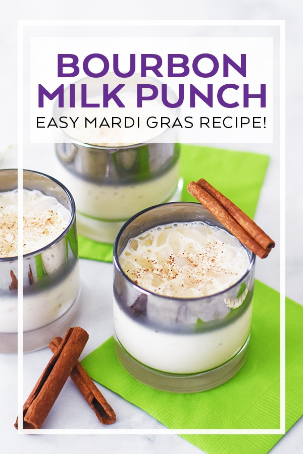 Easy Bourbon Milk Punch Recipe by Pineapple Paper Co.