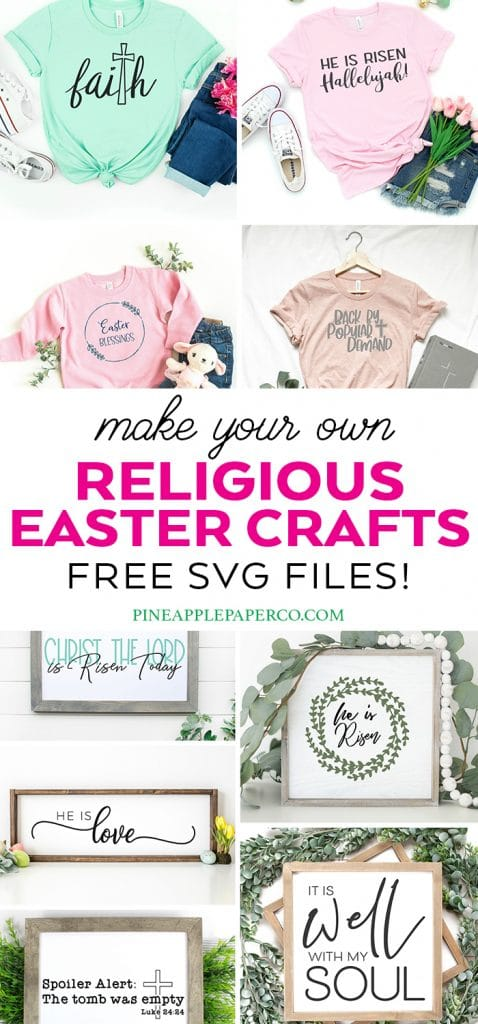 Free Religious Easter SVG File and FREE It Is Well with my Soul SVG by Pineapple Paper Co.