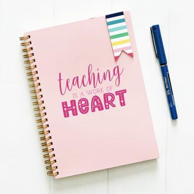 Free Teacher Valentine's Day SVG Cut File
