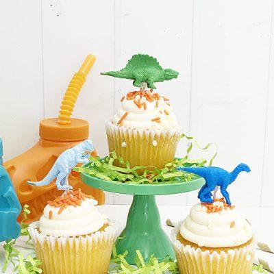 DIY Dinosaur Cupcake Toppers