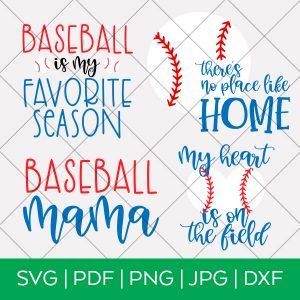 Baseball SVG Bundle by Pineapple Paper Co.