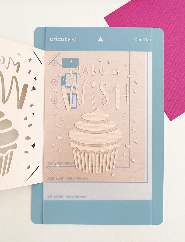 Birthday Card Cricut Joy Card Mat