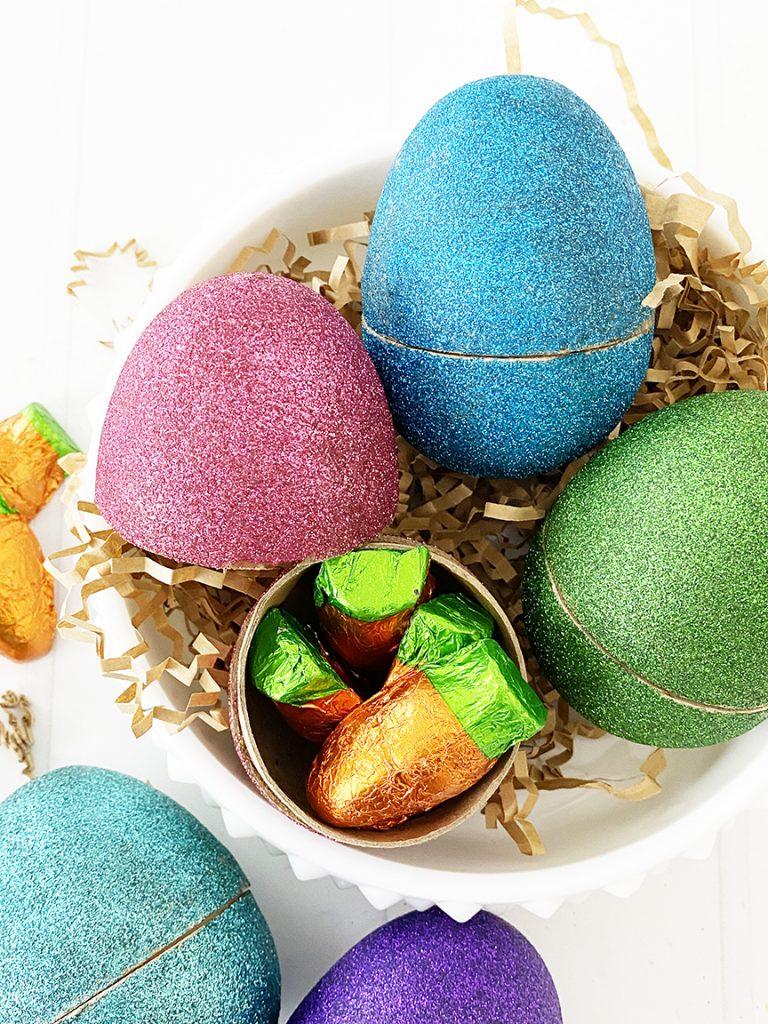 DIY Easy Glitter Easter Eggs by Pineapple Paper Co.