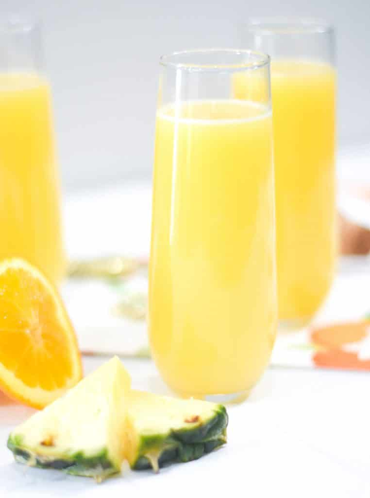 Easy Orange Pineapple Mimosa Recipe by Pineapple Paper Co.