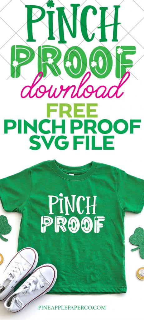 Free Pinch Proof St. Patrick's Day SVG by Pineapple Paper Co.