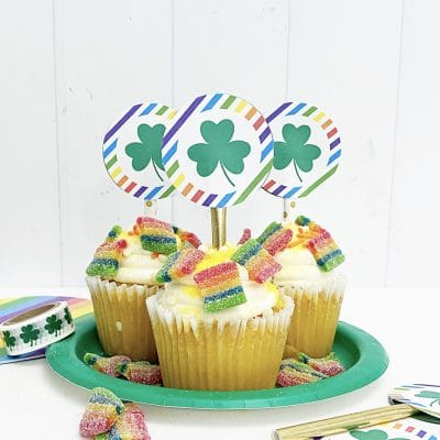 St. Patrick's Day Free Printable Cupcake Toppers