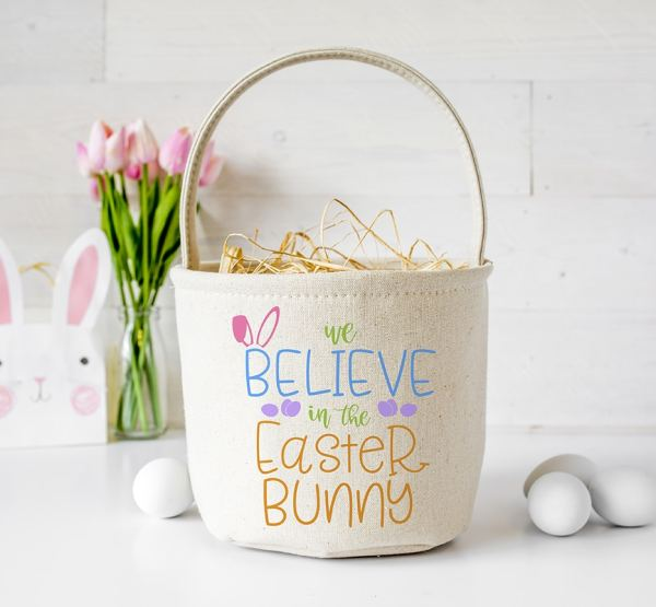 We Believe in the Easter Bunny SVG for Cricut & Silhouette by Pineapple Paper Co.