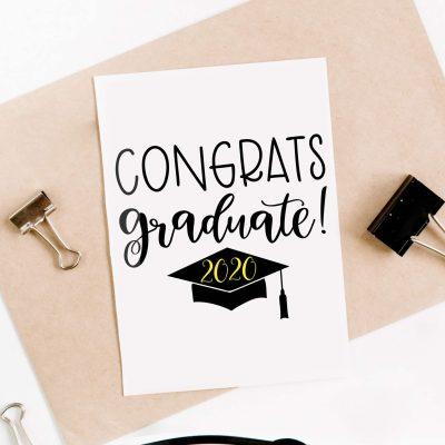 Free Congrats Graduate SVG File