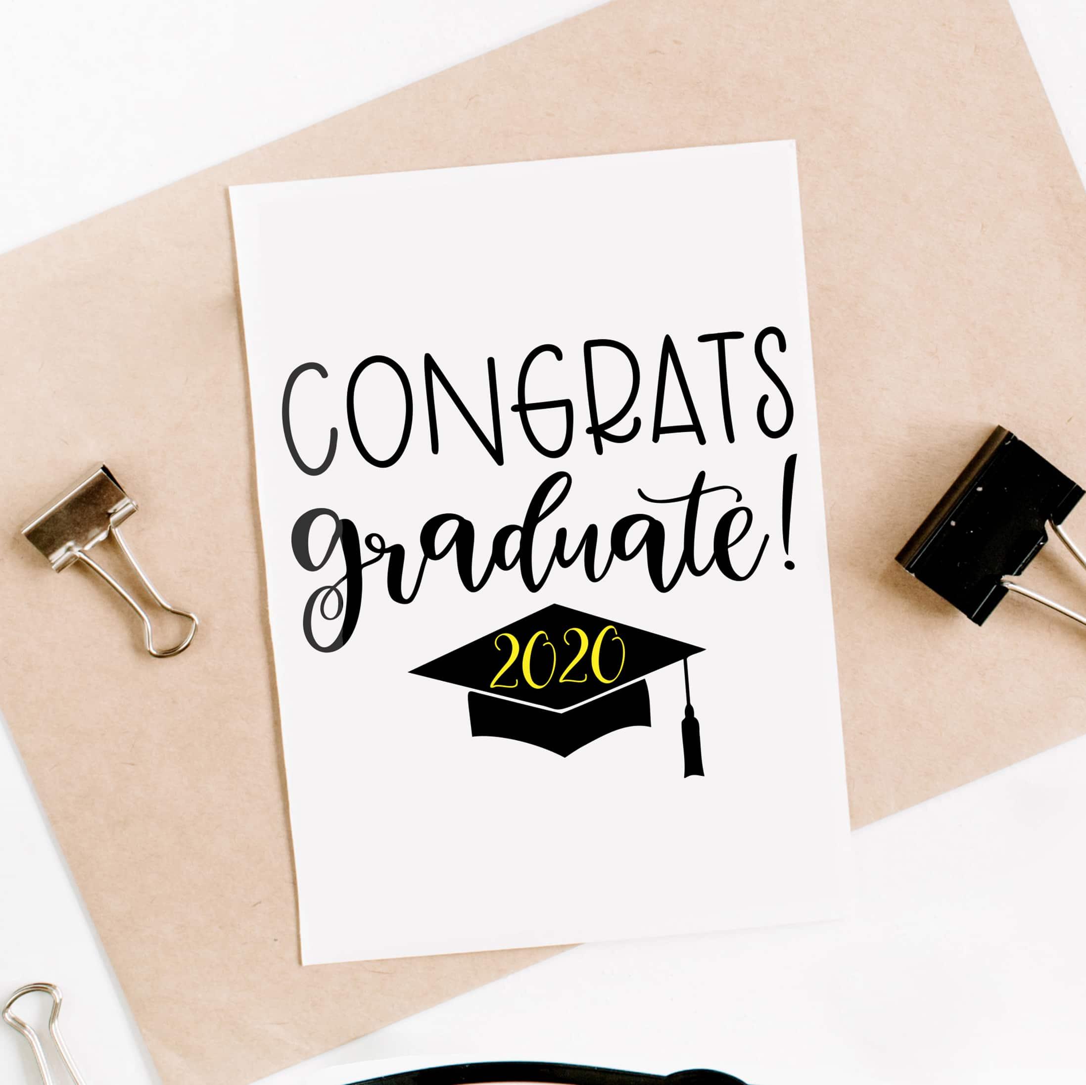 Free Congrats Graduate Svg File Pineapple Paper Co