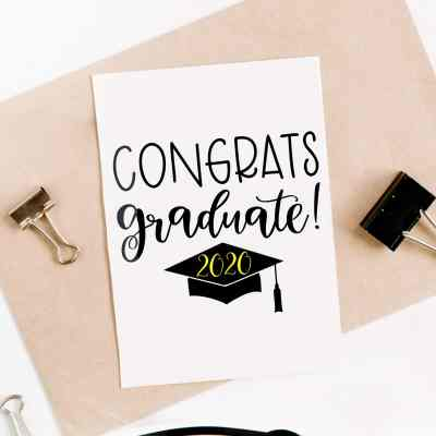 DIY Congrats Graduate Card with FREE Graduation SVG by Pineapple Paper Co.