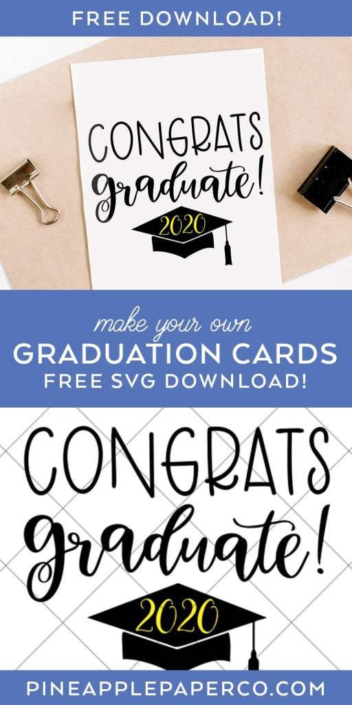 Congrats Graduate FREE Graduation SVG File for Cricut and Silhouette by Pineapple Paper Co.