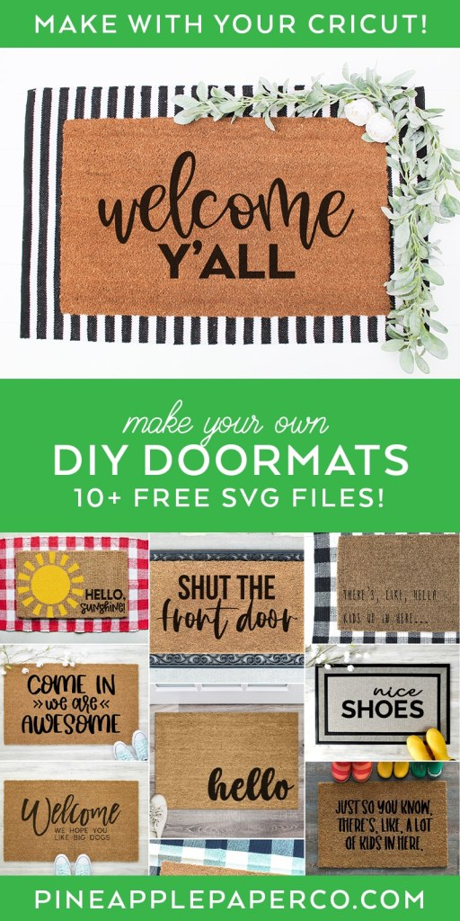 Welcome Y'all SVG plus 10 FREE DOORMAT SVG files at Pineapple Paper Co.