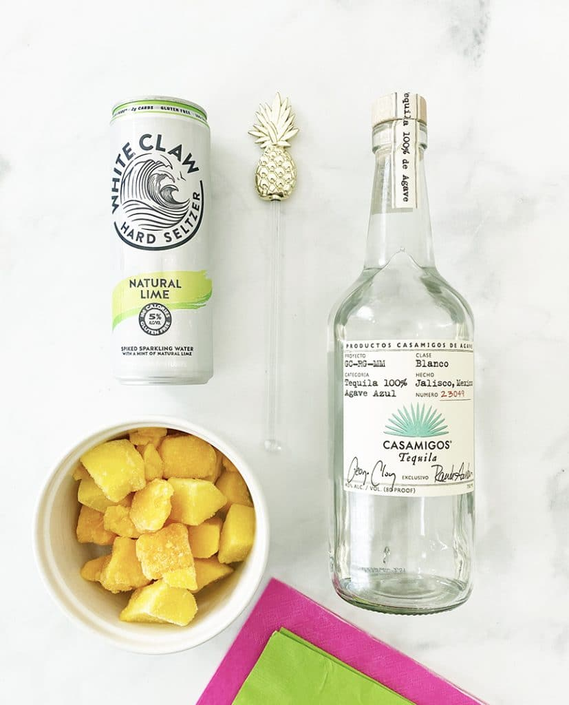 Frozen Mango White Claw Margarita Ingredients by Pineapple Paper Co.