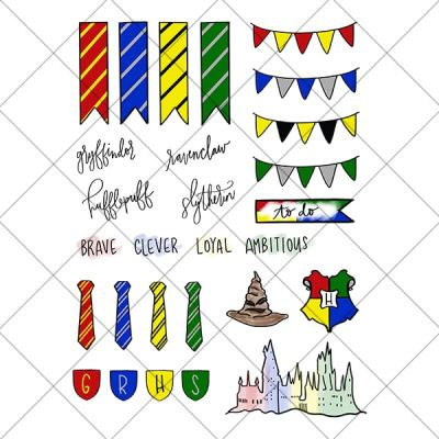 Printable Harry Potter Planner Stickers – Hogwarts Houses