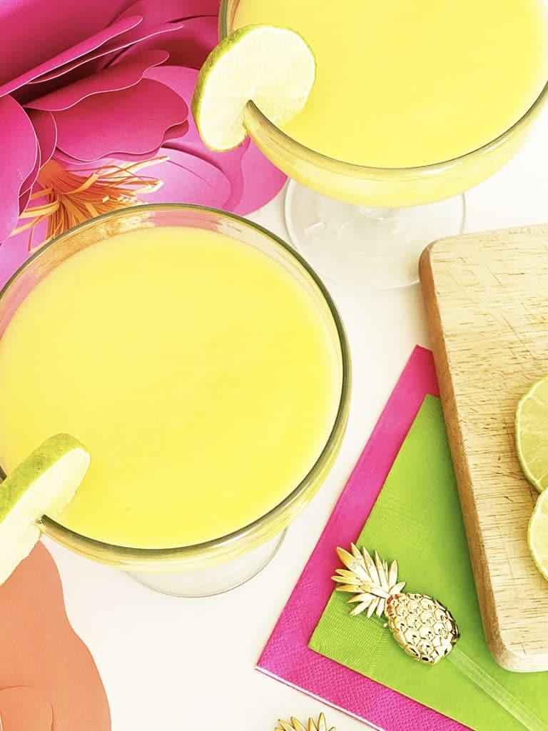 Frozen Mango White Claw Margarita Recipe by Pineapple Paper Co.