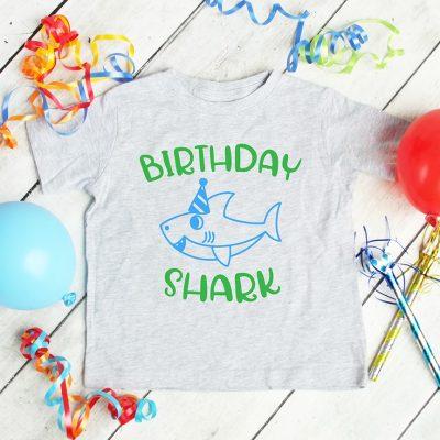 Free Birthday Shark SVG File