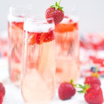 Fresh Strawberry Bellini Recipe