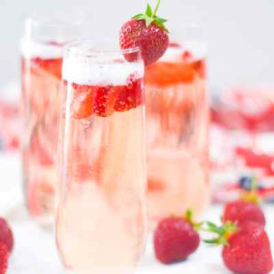 Fresh Strawberry Bellini Recipe