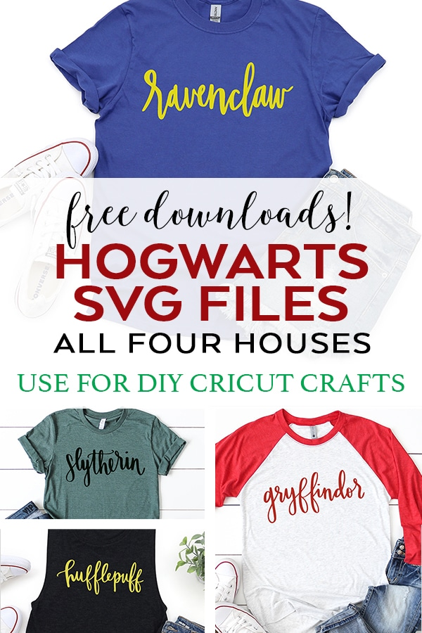 Handlettered Hogwarts Houses SVG Files by Pineapple Paper Co.