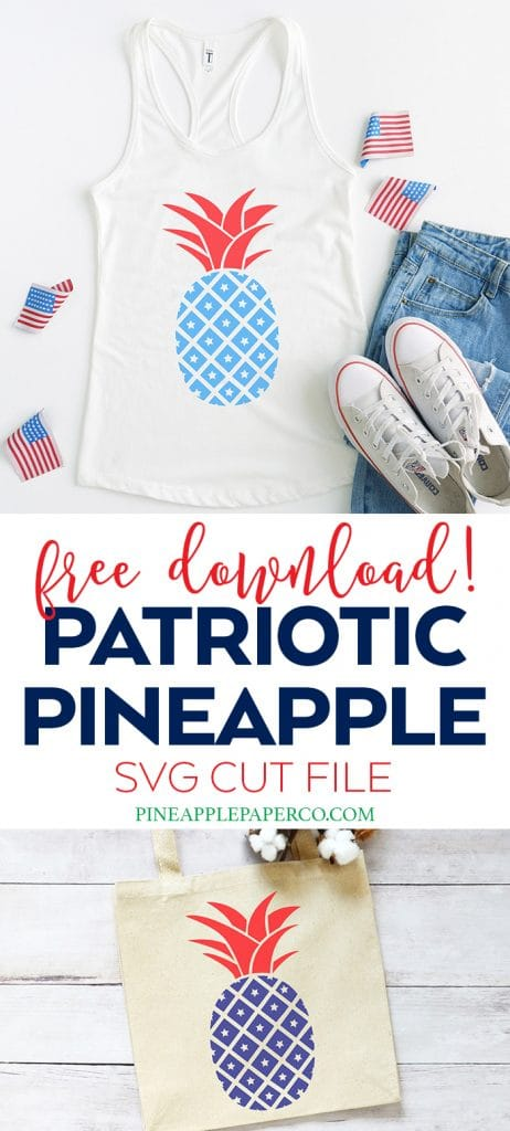 Patriotic Pineapple SVG by Pineapple Paper Co.